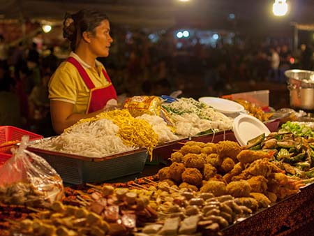 One of the many food stalls at the night market