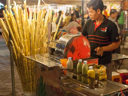 Fresh sugar cane juice