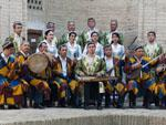 Uzbekistan musicians in traditional dress