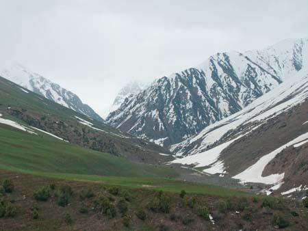 Green turning into white in Kyrgyzstan