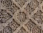 Intricate wooden carving at the Bibi-Khanym mausoleum