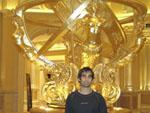 Me and an extravagant gold statue
