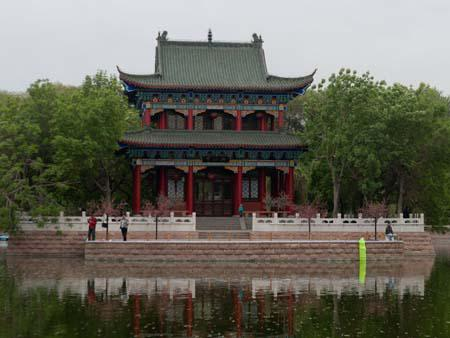 Pavilion in the Peoples Park Urumqi