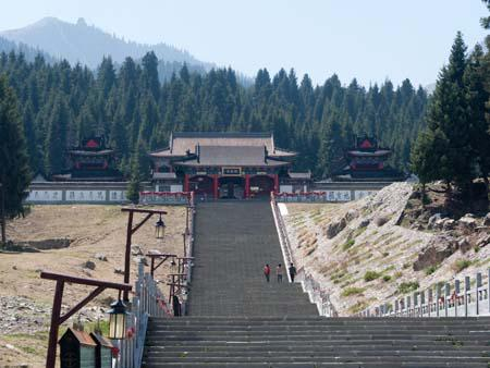 Buddhist monastery built on three-hundred steps