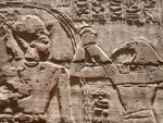 Temple of Seti I - Wall carving of Thoth