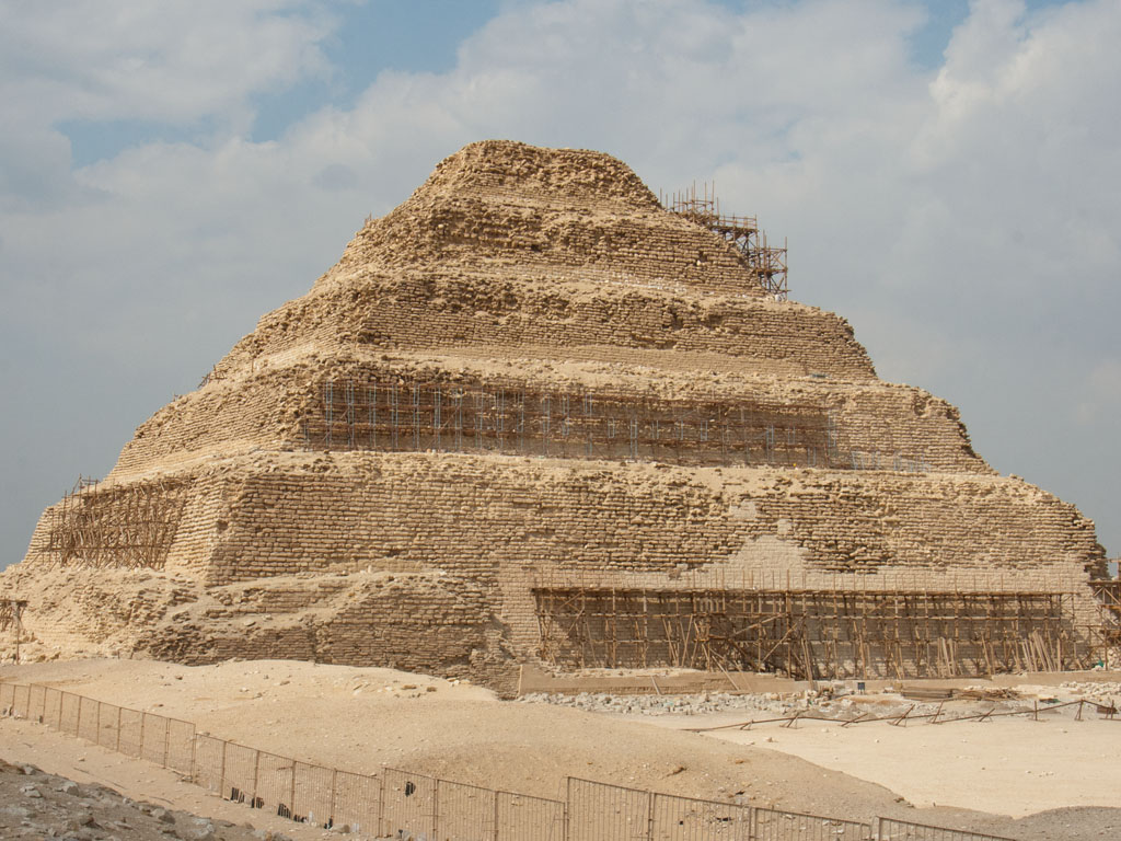 Egypt - Giza, Dahshur and Saqqara pyramids - Sonya and Travis