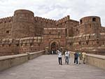 The Lahore Gate the main tourist entrance to the Agra Fort