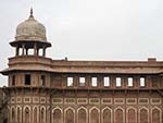 Watch tower on the Agra Forts internal walls