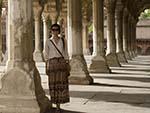 Sonya in the column courtyard of the Diwan I Am