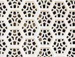 Jali screens of intricately carved white marble