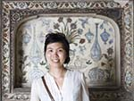 Sonya with the intricate internal white marble walls encrusted with semi-precious stone decoration