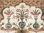 Floral paintings inside the Baby Taj