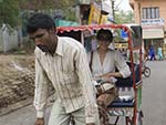 Sonya and the rickshaw tour guide