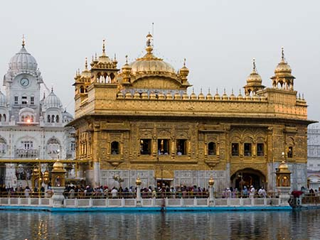 The Golden Temple a prominent Sikh Gurdwara