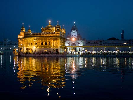 The Golden Temple at twilight