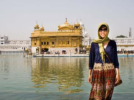 Sonya at the Golden Temple