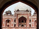 Humayun's Tomb seen from the Western gate