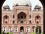 Humayun's Tomb viewed from the Western gate