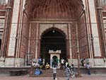 The entrance to the Jama Masjid prayer room