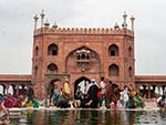 The ablution pond inside Jama Masjid