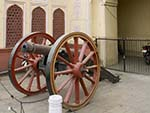 Antique canon outside the Jaipur City Palace