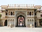 Entrance arch to the Jaipur City Palace
