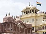 Chandra Mahal, seen at the top is the flag of the royal family