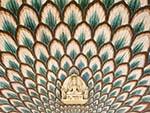 Beautifully decorated Lotus Gate at the Pitam Niwas Chowk