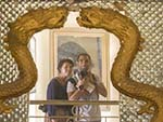 Sonya and Travis self portrait with an antique mirror