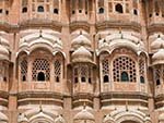 The beehive appearance of Hawa Mahal, the Palace of the Breeze