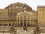 View of the Hawa Mahal from the inside