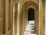 Arched pillared halls found in the Hawa Mahal