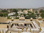 The highest point of the Hawa Mahal looking towards the jantar Mantar