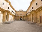 Inside the Nahargarh Fort palace compound