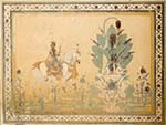 Fresco of horse rider found inside the Nahargarh Fort palace
