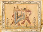 Fresco of elephant rider found inside the Nahargarh Fort palace