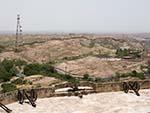 Looking north towards Lalji Maharaj Ashram and Geeta Ashram