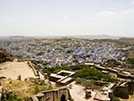 Mehrangarh Fort with Jodhpur the blue city in the background