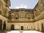 The beautiful Salim Cot inside the Mehrangarh Fort
