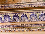 Colourful painted cornice