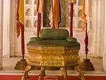 Gold leafed throne
