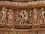 Row of sculptures on Lakshmana Temple