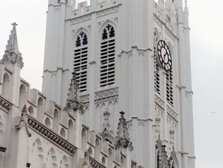 The cathedral conforms to the Neo-Gothic or the Gothic Revival style of architecture