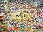 Painting depicting Battle of Haldighati (1576)