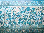 Pascal blue wall decoration at Zenana Mahal (Womens Palace)