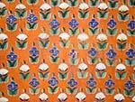 Wall painting flower tessellation