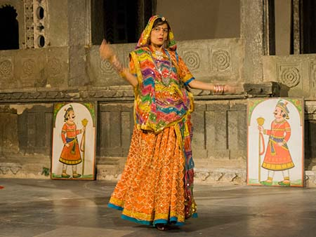 Dancer of traditional Rajasthan region dance