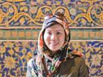 Sonya and some bright mosaics