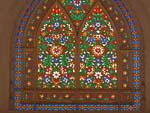 Stained-glass windows at Abbasian Historic House