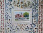 Wall artwork at the Soltan Amir Ahmad Historic Bath